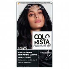 L'Oreal Paris Colorista Permanent Gel Hair Dye - Deep Black