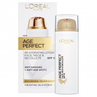 L'Oreal Paris Age Perfect Face, Neck & Chest SPF 15 Rehydrating Lotion 50ml