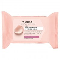 L'Oreal Paris Fine Flowers Cleansing Wipes-Dry & Sensitive Skin 25 per pack