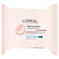 L'Oreal Paris Fine Flowers Cleansing Wipes-Normal to Combination Skin 25 per pack