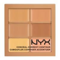 NYX Professional Makeup 3C-Conceal, Correct, Contour Palette - 02 Medium