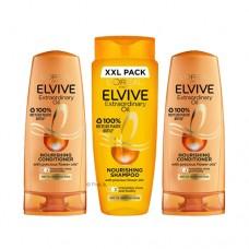 L'Oreal Elvive Extraordinary Oil Nourishing Shampoo 700ml & Conditioner 800ml